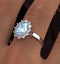 Aquamarine 1.70ct and Diamond 1.00ct Platinum Ring - image 4