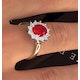 Ruby 2.40ct And Diamond 1.00ct 18K Gold Ring - image 4