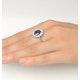 Tanzanite 9 x 7mm And 1.00ct Diamond 18K White Gold Ring - image 4