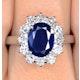 Platinum Sapphire 2.30ct And Diamond 1.00ct Ring - image 3