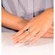 Platinum Sapphire 2.30ct And Diamond 1.00ct Ring - image 4