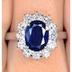 Sapphire 2.30ct And Diamond 1.00ct 18K White Gold Ring - image 3