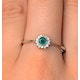 Emerald 3.5 x 3.5mm And Diamond 18K White Gold Ring - image 3