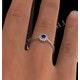 Tanzanite 3.5 x 3.5mm And Diamond 18K White Gold Ring - image 4