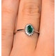 Emerald 5 x 3mm And Diamond 18K White Gold Ring  FET29-GY - image 3