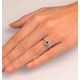 Emerald 5 x 3mm And Diamond 18K White Gold Ring  FET29-GY - image 4