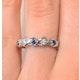 Tanzanite 2.25 x 2.25mm And Diamond 18K White Gold Ring - image 3