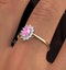 18K Gold Diamond and Pink Sapphire Ring 0.18ct - image 3