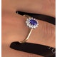 Tanzanite 6 x 4mm And Diamond 18K Gold Ring  FET33-V - image 3