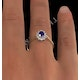 Tanzanite 6 x 4mm And Diamond 18K Gold Ring  FET33-V - image 4