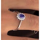 Tanzanite 6 x 4mm And Diamond 18K White Gold Ring  FET33-VY - image 3
