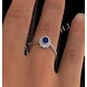 Tanzanite 6 x 4mm And Diamond 18K White Gold Ring  FET33-VY - image 4