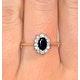 Sapphire 6 x 4mm And Diamond 18K Gold Ring  FET33-U - image 3