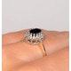 Sapphire 6 x 4mm And Diamond 18K Gold Ring  FET33-U - image 4