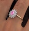 18K Gold Diamond and Pink Sapphire Ring 0.36ct - image 3