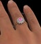 18K Gold Diamond and Pink Sapphire Ring 0.36ct - image 4