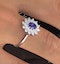 Tanzanite 6 x4mm And Diamond 18K White Gold Ring - image 2