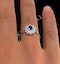 Tanzanite 6 x4mm And Diamond 18K White Gold Ring - image 3