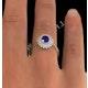 Tanzanite 7 x 5mm And Diamond 18K Gold Ring - image 3