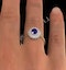 Tanzanite 7 x 5mm And Diamond 18K Gold Ring - image 3