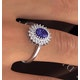 Tanzanite 7 x 5mm And 0.30ct Diamond 18K White Gold Ring  FET35-VY - image 3