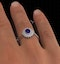 Tanzanite 7 x 5mm And 0.30ct Diamond 18K White Gold Ring  FET35-VY - image 4