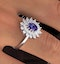 Tanzanite 7 x 5mm And Diamond 18K White Gold Ring  FET36-VY - image 3