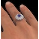 Tanzanite 7 x 5mm And Diamond 18K White Gold Ring  FET36-VY - image 4