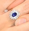 Sapphire 7 x 5mm And Diamond 0.56ct 18K Gold Ring - image 4