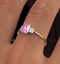 18K Gold Diamond and Pink Sapphire Ring 0.06ct - image 4