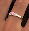 18K Gold Diamond and Pink Sapphire Ring 0.10ct - image 3