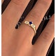 Sapphire 3.75mm And Diamond 18K Gold Ring - image 4