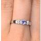 Tanzanite 3.75mm And Diamond 18K White Gold Ring - image 4