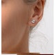 Diamond Earrings 1.00CT Studs H/SI Quality in Platinum - 5.1mm - image 4