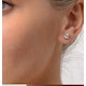 Diamond Earrings 1.00CT Studs H/SI Quality in 18K White Gold - 5.1mm - image 3