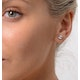 Diamond Earrings 1.00CT Studs Premium Quality in 18K White Gold 5.1mm - image 3
