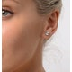 Diamond Earrings 1.00CT Studs G/Vs Quality in Platinum - 5.1mm - image 3