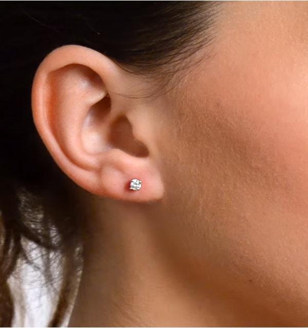 9bfc5877e ... Diamond Earrings 0.20CT Studs Premium Quality in 18K White Gold - 3mm -  image 4 ...