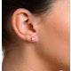 Diamond Earrings 0.30CT Studs G/Vs Quality in 18K White Gold - 3.4mm - image 4