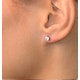 Lab Diamond Stud Earrings 0.50CT G/VS1 Quality 18K White Gold - 4.1mm - image 3