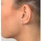 Diamond Earrings 0.50CT Studs G/Vs Quality in 18K White Gold - 4.1mm - image 4