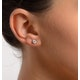 Diamond Earrings 0.66CT Studs H/SI Quality in Platinum - 4.5mm - image 3