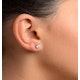 Diamond Earrings 0.66CT Studs H/SI Quality in Platinum - 4.5mm - image 4