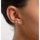 Diamond Earrings 0.66CT Studs H/SI Quality in 18K White Gold - 4.5mm - image 3