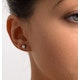 Diamond Earrings 0.66CT Studs Premium Quality 18K White Gold - 4.5mm - image 3