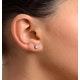 Diamond Earrings 0.66CT Studs G/VS Quality in 18K White Gold - 4.5mm - image 3