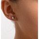 Diamond Earrings 0.66CT Studs G/VS Quality in 18K White Gold - 4.5mm - image 4