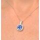 KEIRA 18K White Gold 1.50ct Sapphire and Diamond Halo Pendant - image 4