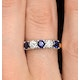 Sapphire 0.90CT and Diamond Ring 0.40CT 18K Gold FT26 - image 4