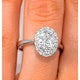 1ct Diamond and 18K White Gold Cluster Ring FT60 - image 4